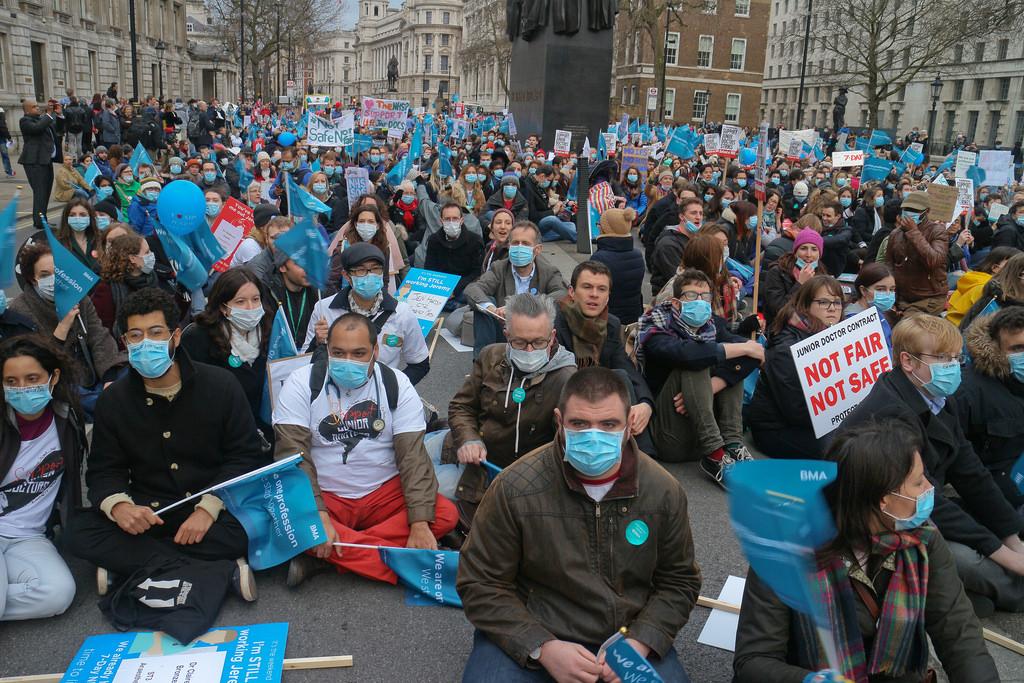 Health worker organising